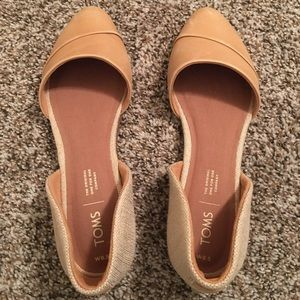 Brand new Toms honey leather flats. Size 8.5